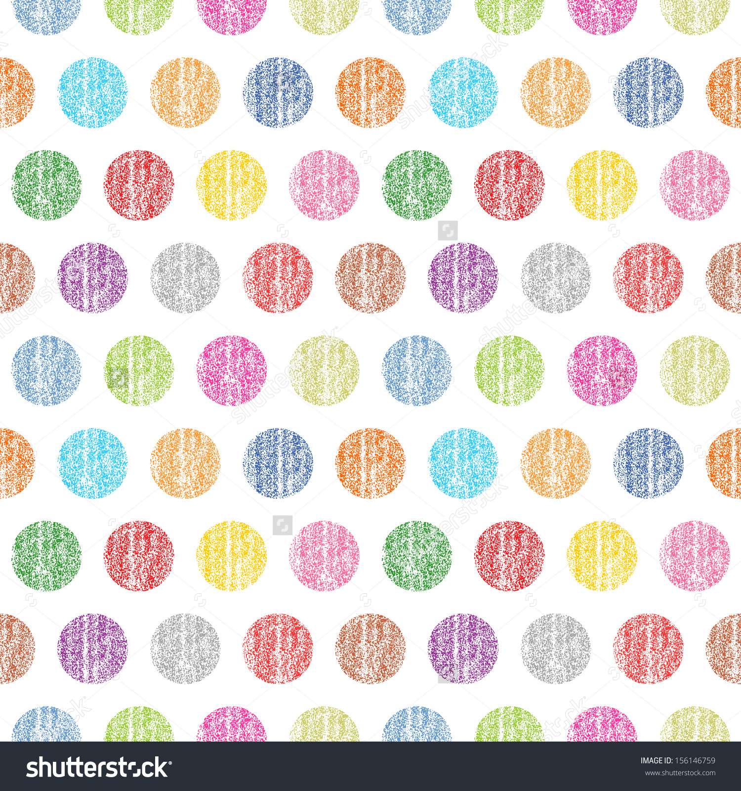 Seamless Pattern Polka Dots On White Stock Vector 156146759.