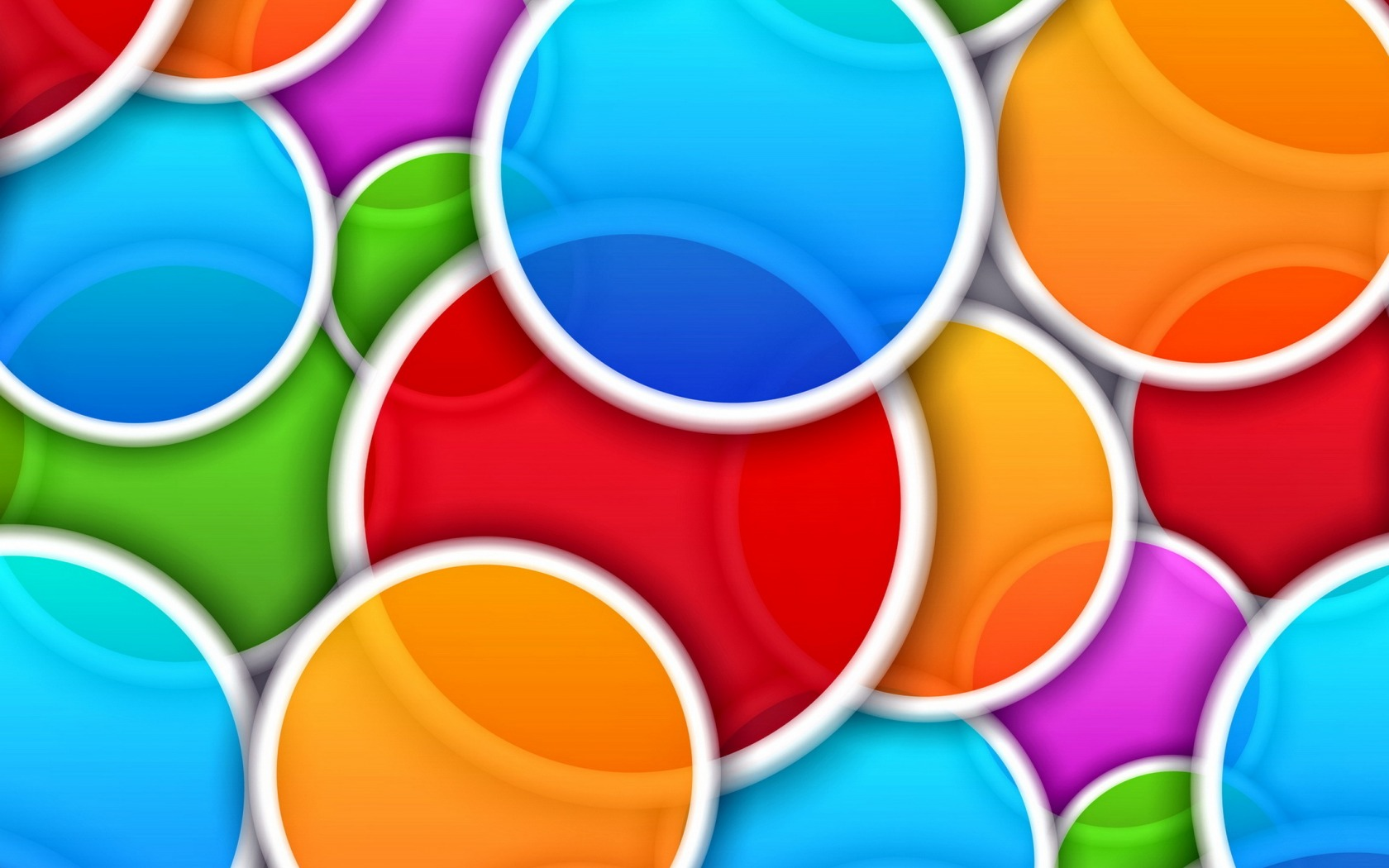 Download Wallpaper circles, abstraction, background, colors.