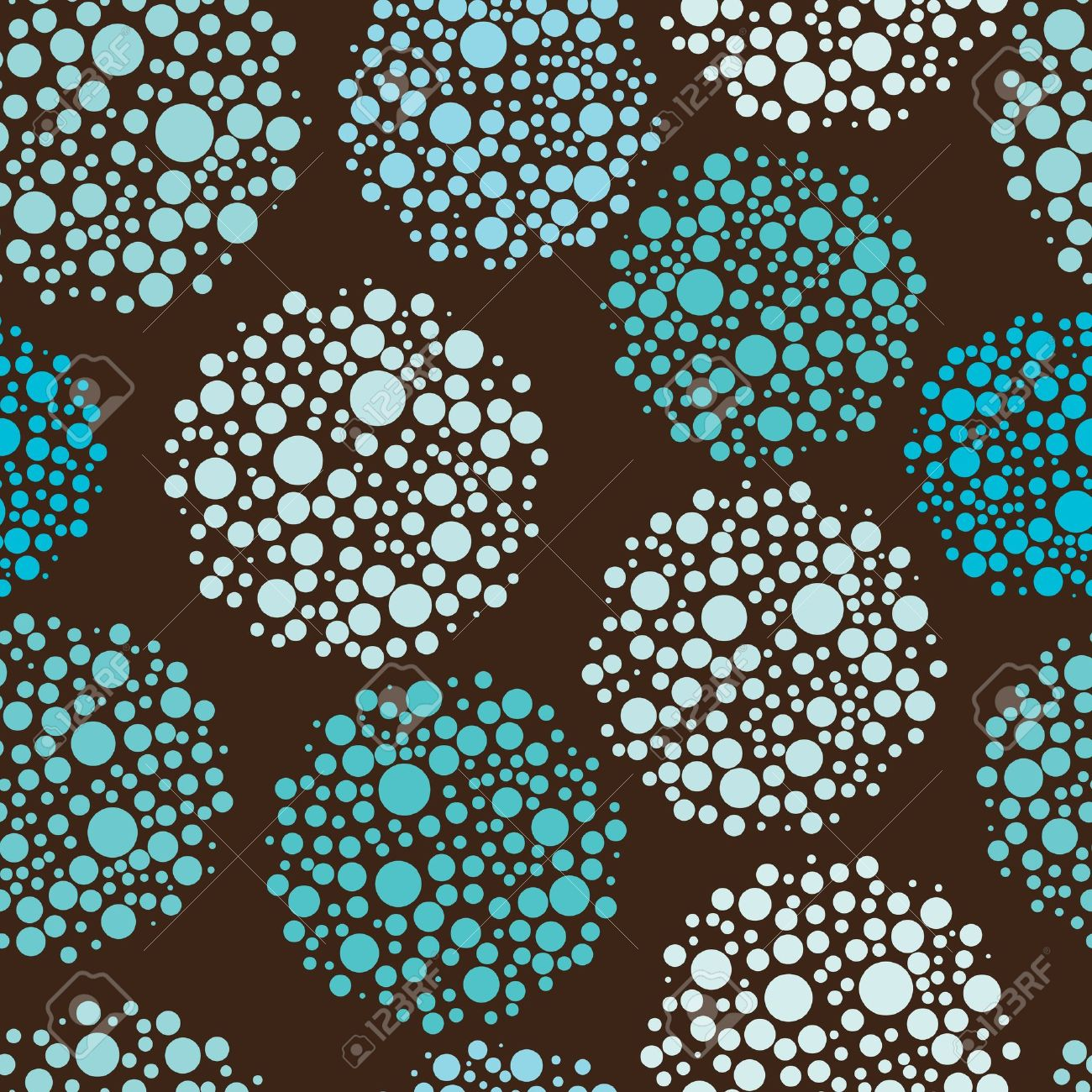 Circles Pattern In Fashion Trend Colors Royalty Free Cliparts.