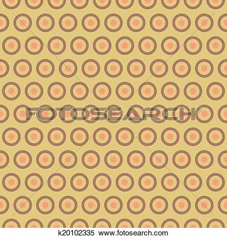 Clipart of Tea abstract vector seamless pattern (tiling, with.