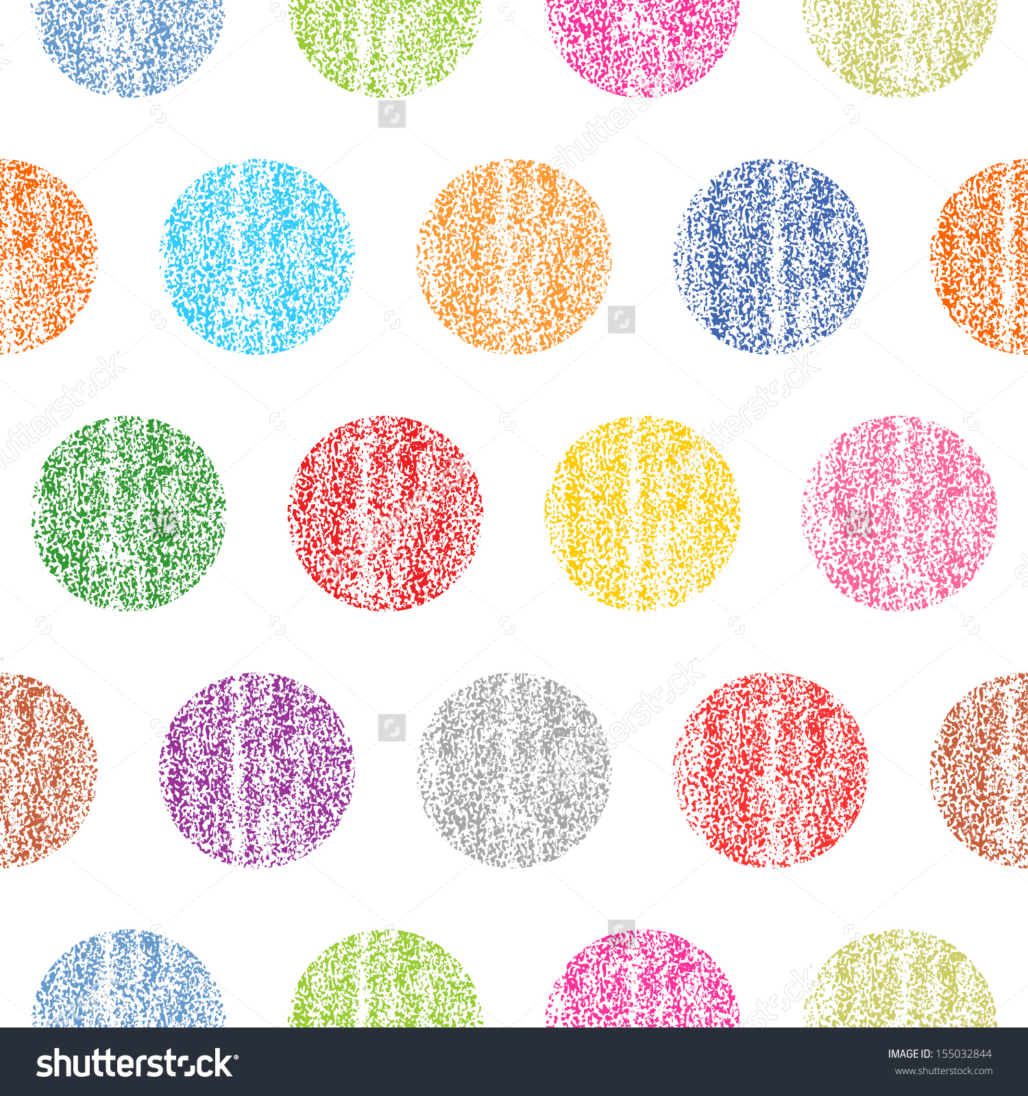 Seamless Pattern Color Polka Dots On Stock Vector 155032844.