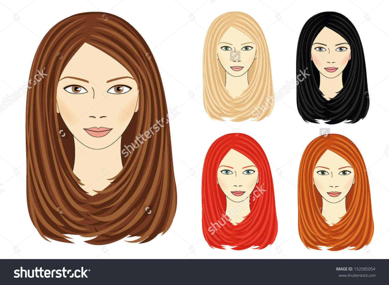 Set Images Same Girl Based On Stock Vector 152585054.