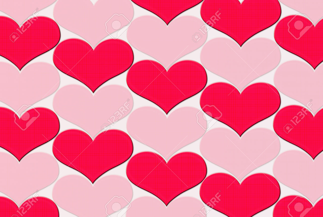 Multi Color Of Heart Shape On Background,Clipart. Stock Photo.