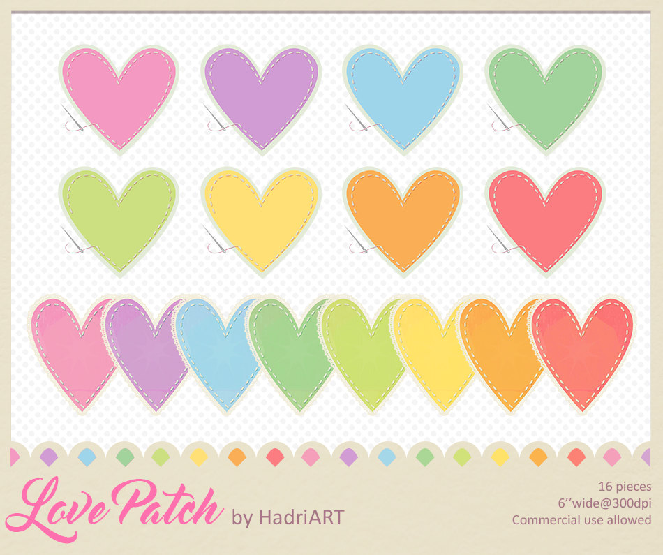 Heart Clipart Pack Sew.