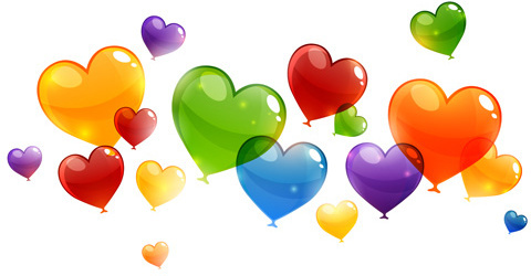 Colorful Heart Love Vector Set Free vector in Encapsulated.