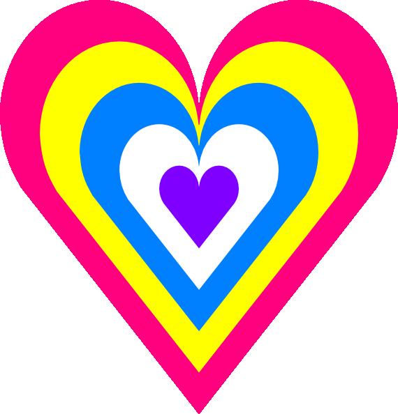 Heart In Colors Clip Art at Clker.com.