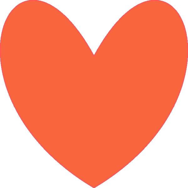 Orange Coral Heart Clip Art at Clker.com.