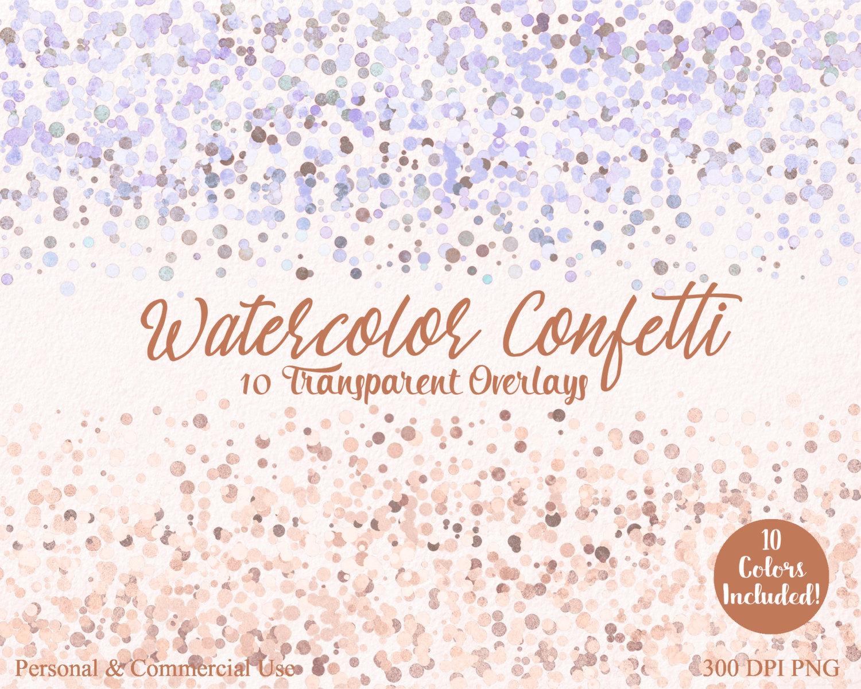 AUTUMN CONFETTI BORDER Clipart Commercial Use Clip art 10 Confetti.