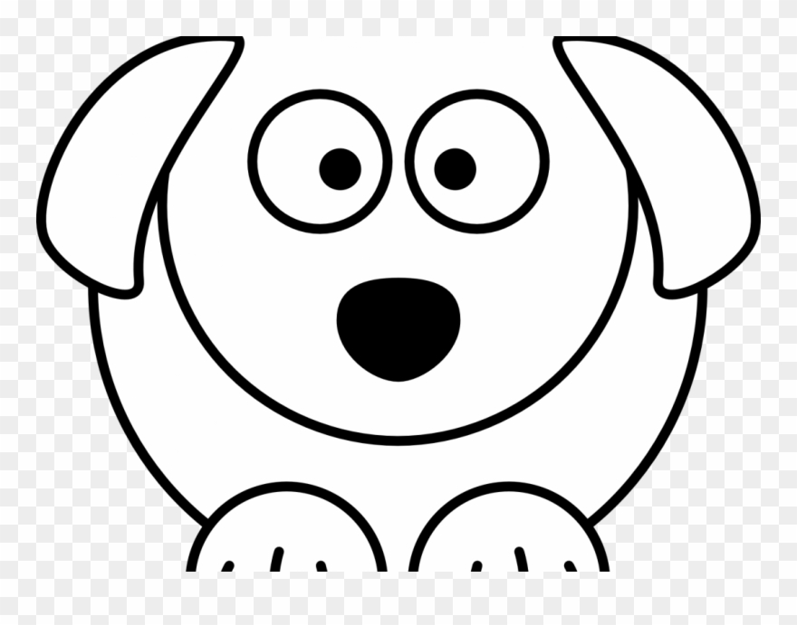 Dog Faces Coloring Pages Free Black And White Cartoon.