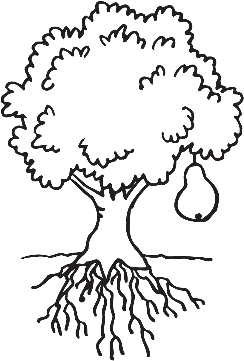 clipart coloring tree Clipground