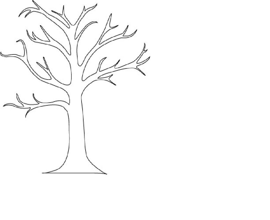 clipart coloring tree - Clipground