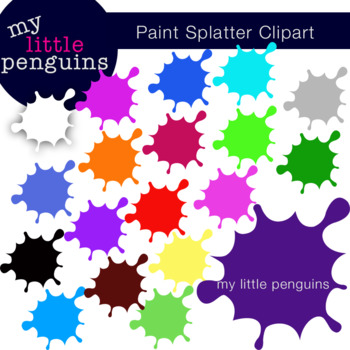 Paint Splatter Clipart.