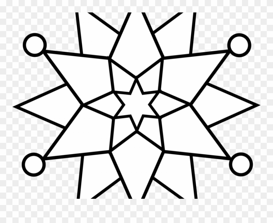 Free Png Download Simple Snowflakes Colouring Pages.