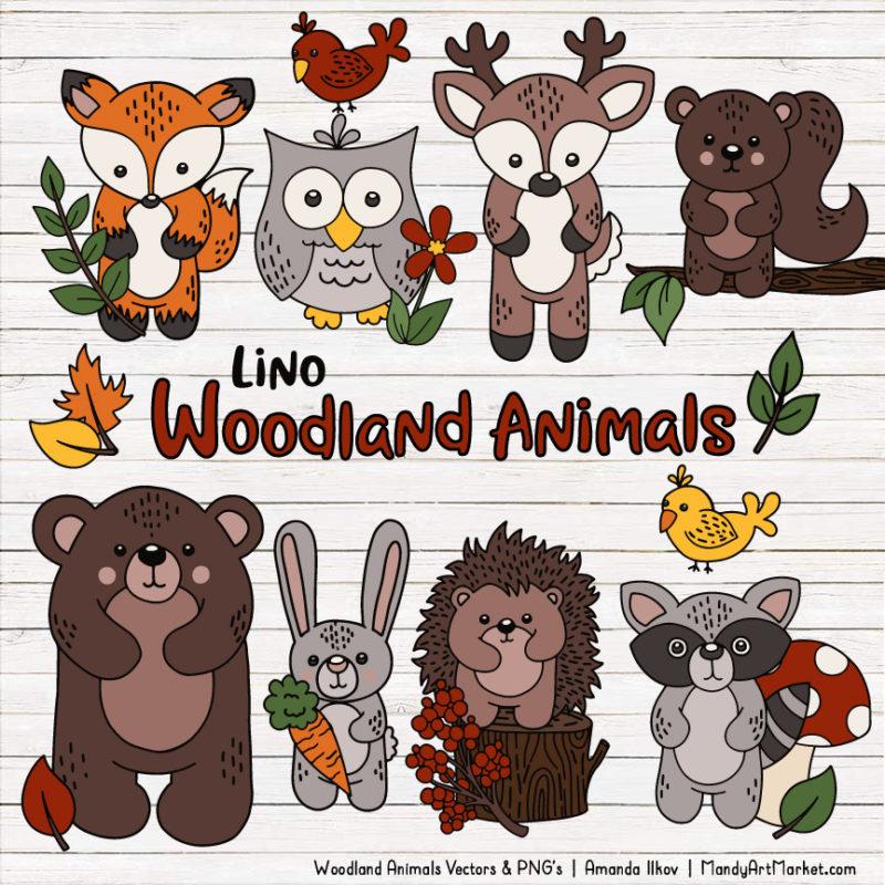 Free Woodland Animals Clipart & Vectors.