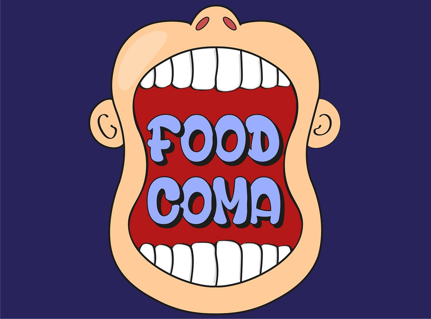 Image result for food coma clipart.