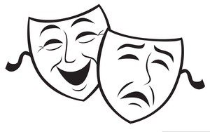 Theater Masks Comedy Tragedy Clipart.