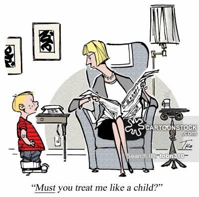 clipart comics mom father discipline #12