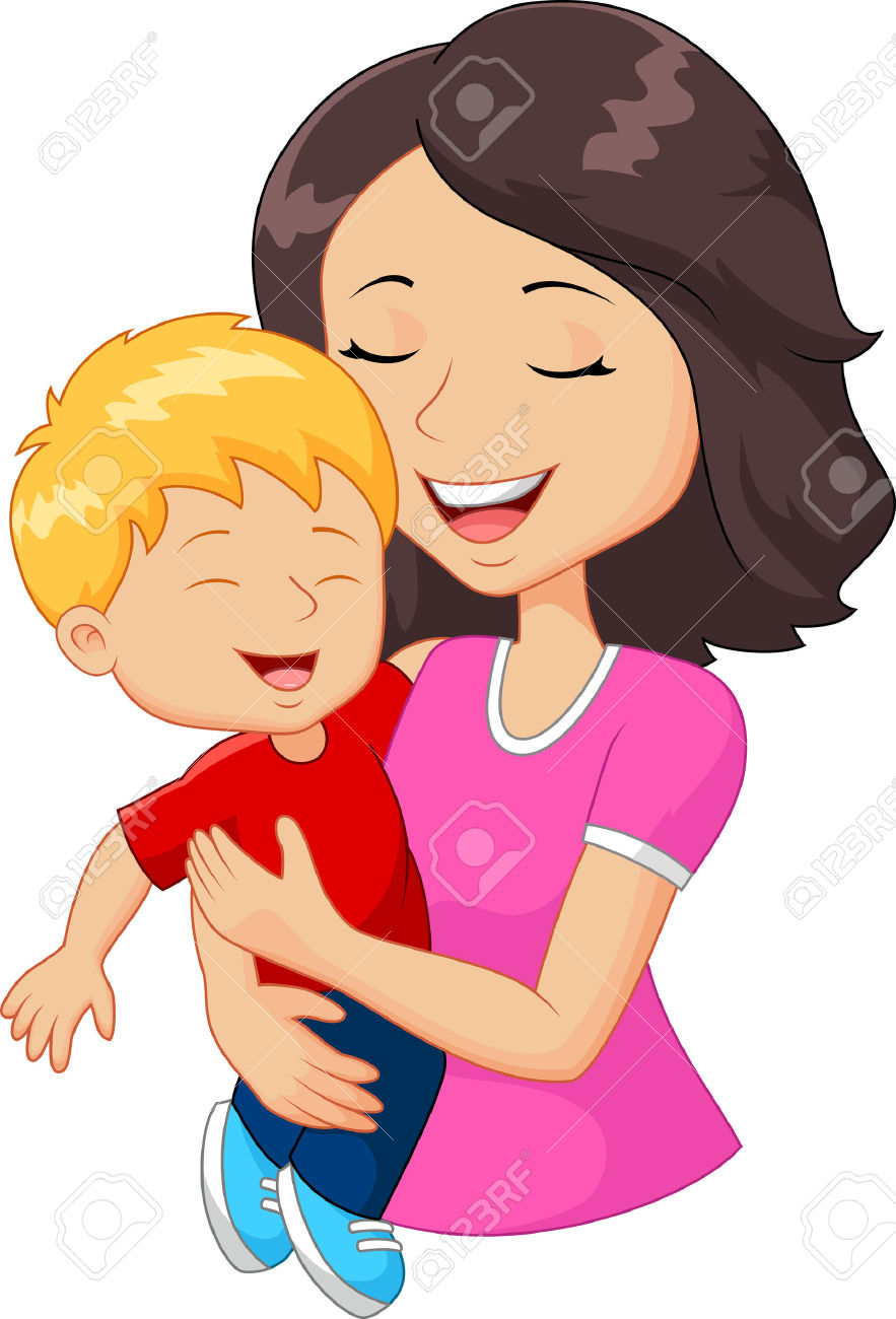 Clipart Comics Mother And Son.