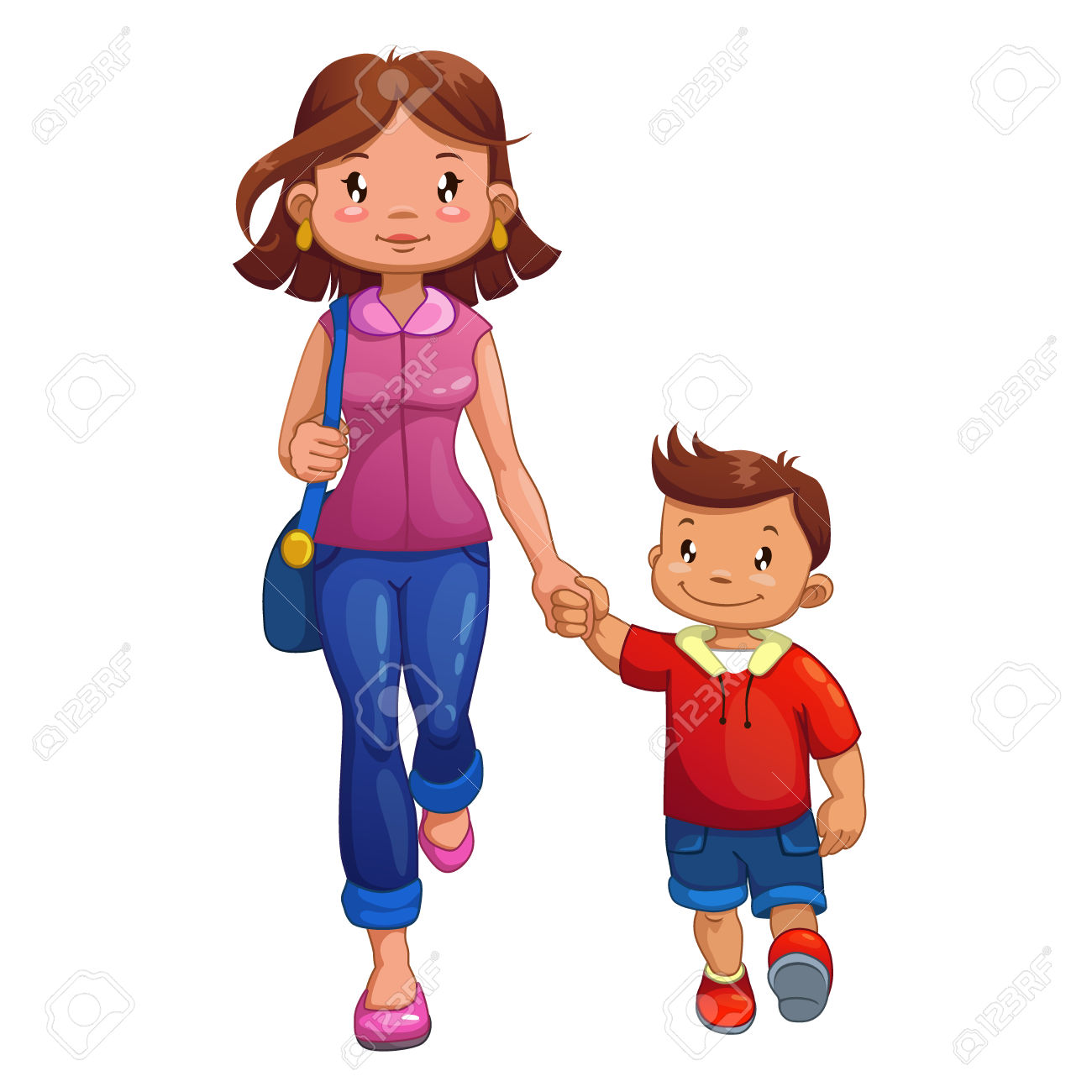Showing post & media for Mom walking cartoon.