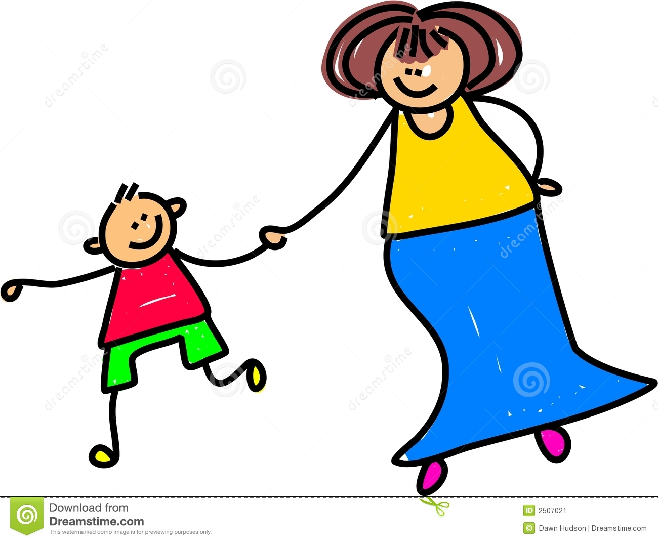 clipart comics mother and son #5