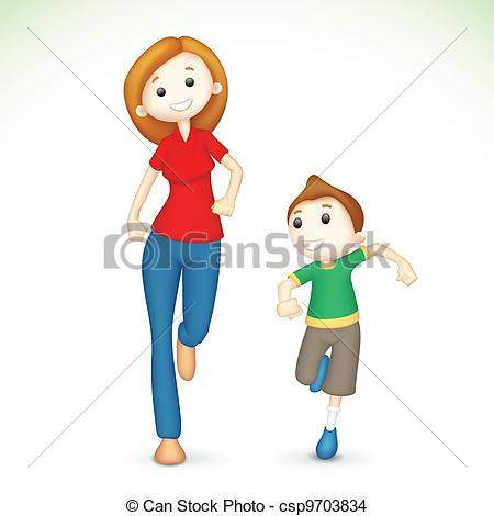 Clipart Mother And Son.