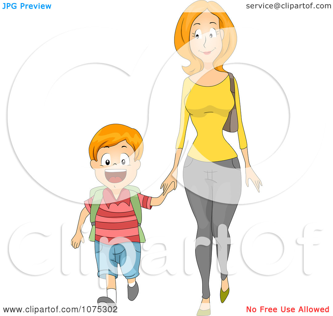 Showing post & media for Mom walking cartoon.
