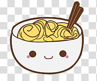 Comida Kawaii en zip, bowl of food transparent background.