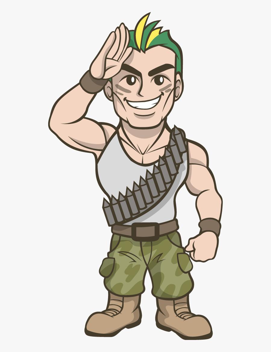 Soldier Commando Clipart.