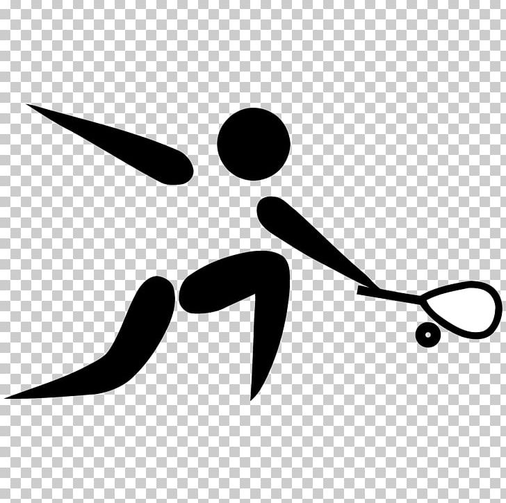 Squash Sport Olympic Games 2014 Commonwealth Games Pictogram.