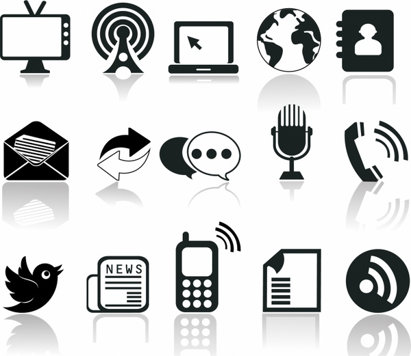 Communication icons vector art free vector download (212,397 Free.