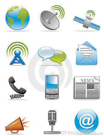 Communication Icons Royalty Free Stock Image.
