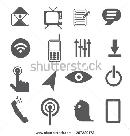 Mobile Icon Vector Stock Vector 130434731.
