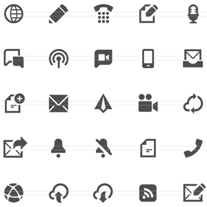 Communication Icons Retina.