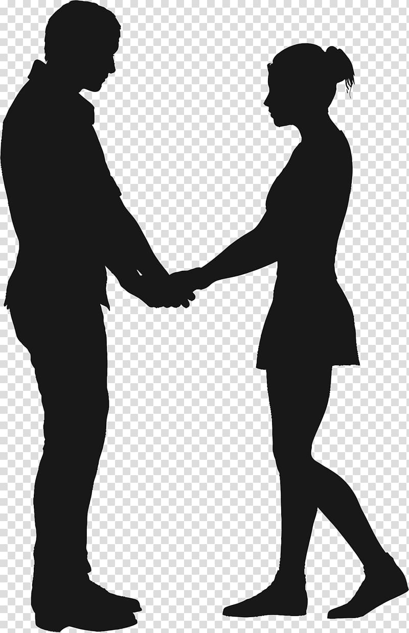 Silhouette couple , couple transparent background PNG.
