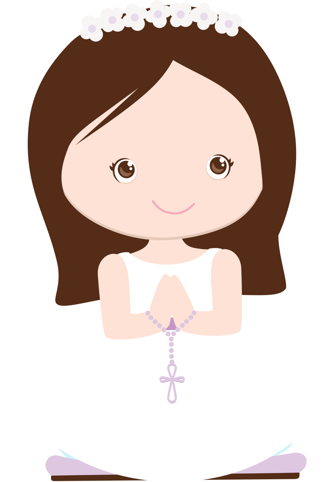 Clipart communion girl png wave hair 1 » PNG Image.