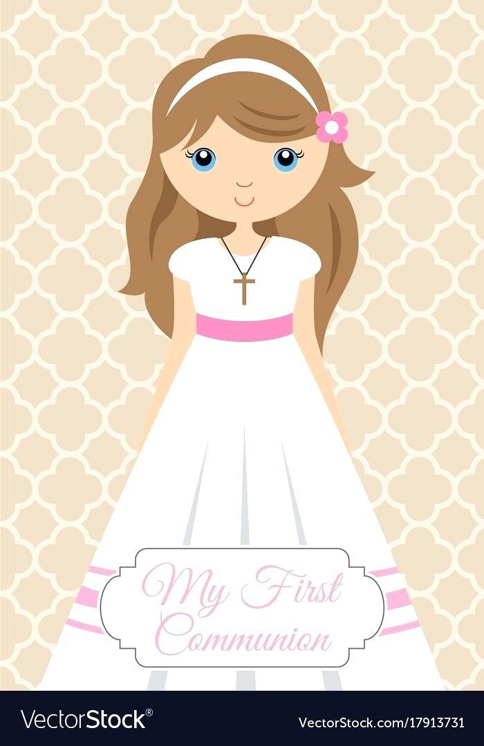 first communion girl.