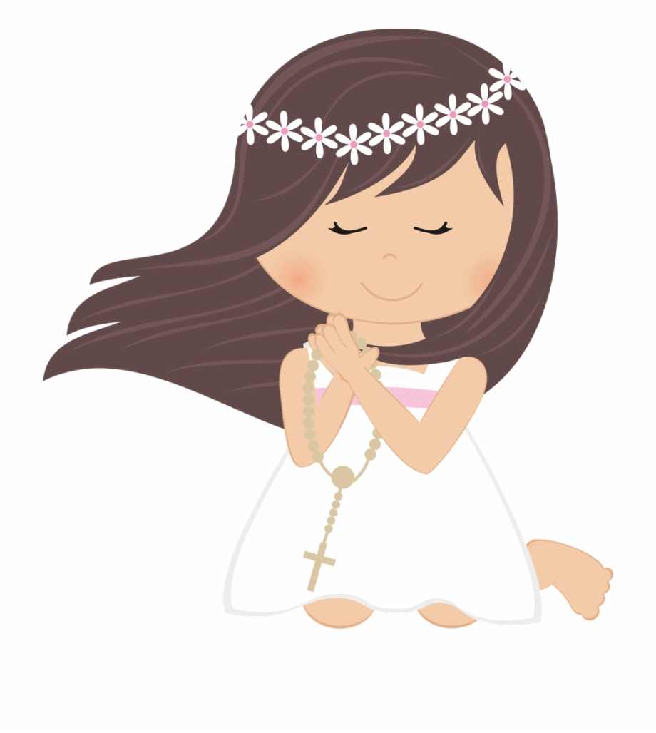First Communion Girl Png.