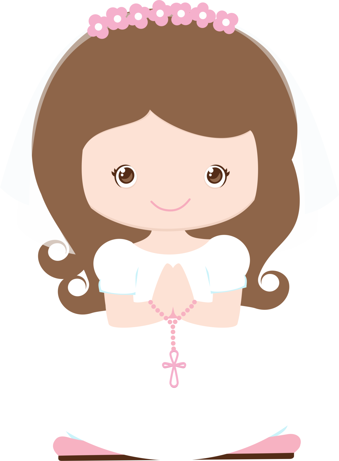 Clipart communion girl png wave hair 2 » PNG Image.