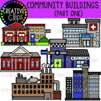 Community Buildings 1 {Creative Clips Clipart}.