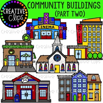 Community Buildings 2 {Creative Clips Clipart}.
