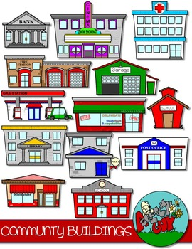 Community Buildings Clip art.