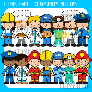Community Helpers Clip Art, Occupations by ClipArtisan.