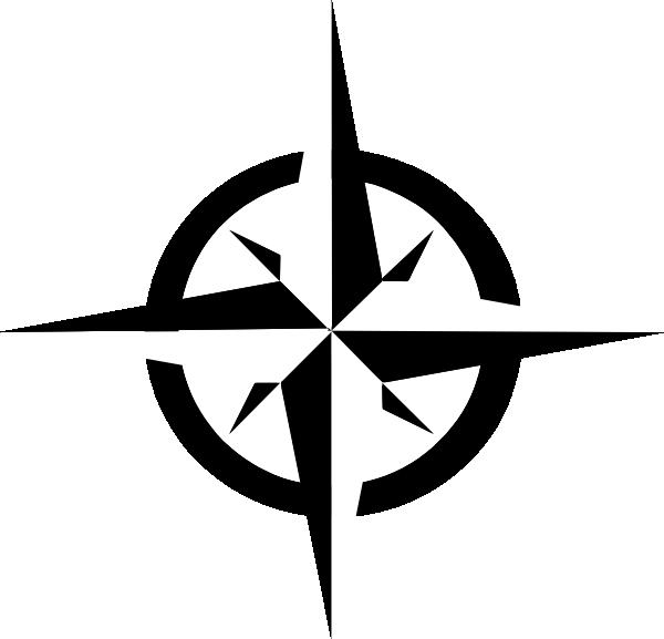 White Compass Rose clip art.