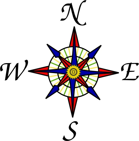 Compass Rose clip art Free vector in Open office drawing svg.