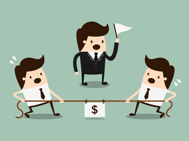 Competition concept. Business Cartoon Concept Illustration.