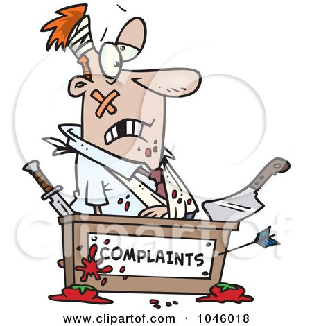 Complaint Department Clip Art.