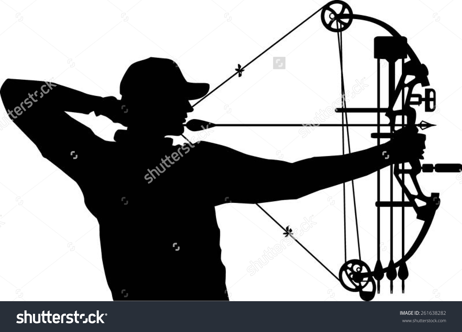 Bow Hunter Clipart.