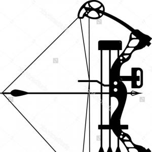 Excellent Compound Bow And Arrow Silhouette Design.