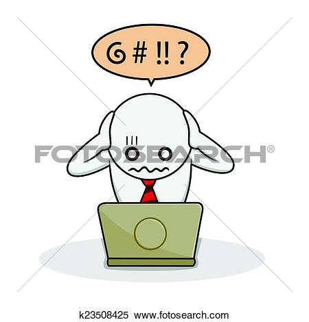 Clipart of businessman frustrated k23508425.