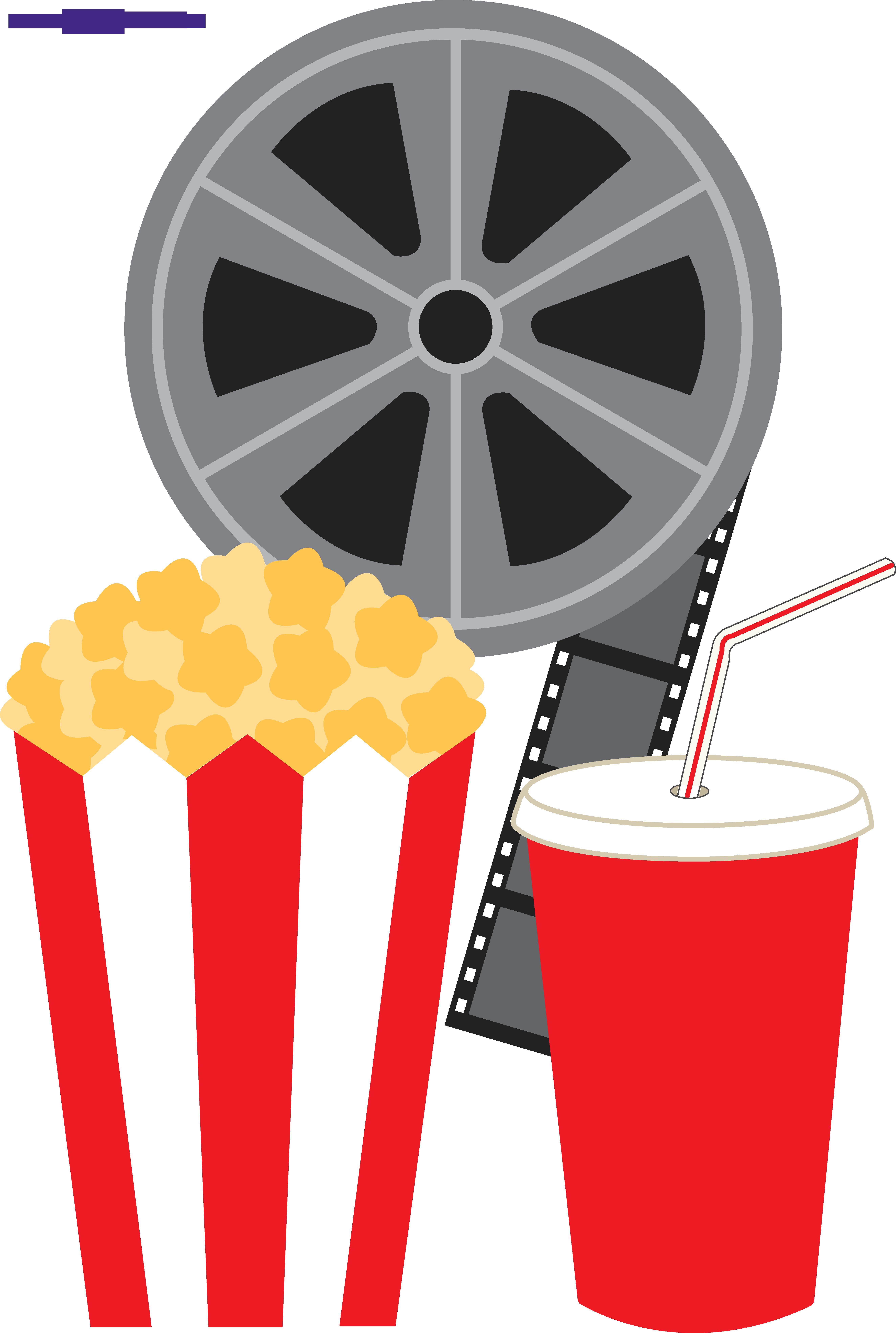 Popcorn Soda and Movie Clipart.
